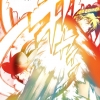 Natsu and Sieg Attack Each Other at the Same Time
